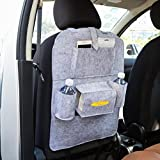 Elaco Auto Car Back Seat Boot Organizer Car Covers Back Seat Organizer Multi-Pocket Storage Container Bag (Gray)