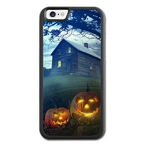 Apple Iphone 6/6s Case Happy Halloween Ghost Skull Pumpkin design Hard Rubber TPU Phone Case (Halloween Six Flags Dallas)