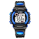 Watch Boys Digital Casual Multifunction Outdoor LED Alarm Date Waterproof Chronograph Watch for Kid
