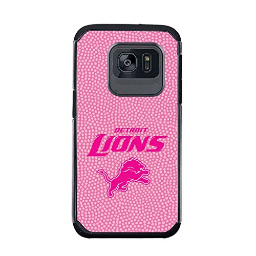 NFL Detroit Lions True Grip Football Pebble Grain Feel Samsung Galaxy S7 Case, Pink