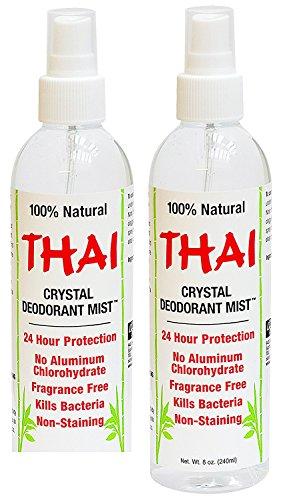 Thai Deodorant Stone Crystal Mist Natural Deodorant Spray 8 oz. Bundle, Pack of (Alcohol Free Deodorant Spray)