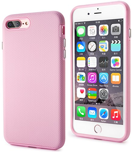 iPhone 7 Plus Case, Veatool [Dual Layer][Drop Protection Technology] with Rubber Back and TPU Bumper...