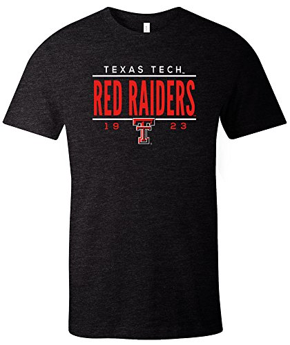 - NCAA Texas Tech Red Raiders Tradition Short Sleeve Tri-Blend T-Shirt, Solid Black,XX-Large