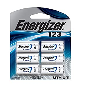 Energizer 123 Lithium Batteries, 6 Count (CR123A)