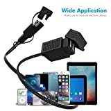 MICTUNING SAE to USB Cable Adapter 3.1A Dual Port