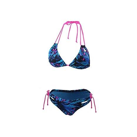 MX Western sexy planta floral bikini traje de baño pequeño cofre ...