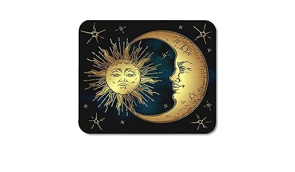 Alfombrillas para ratón Astrología Sol Dorado Antiguo Luna ...