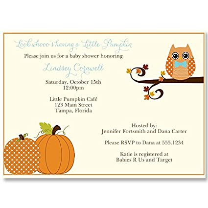 Amazon autumn baby shower invitations owl fall pumpkin autumn baby shower invitations owl fall pumpkin leaves baby boy filmwisefo