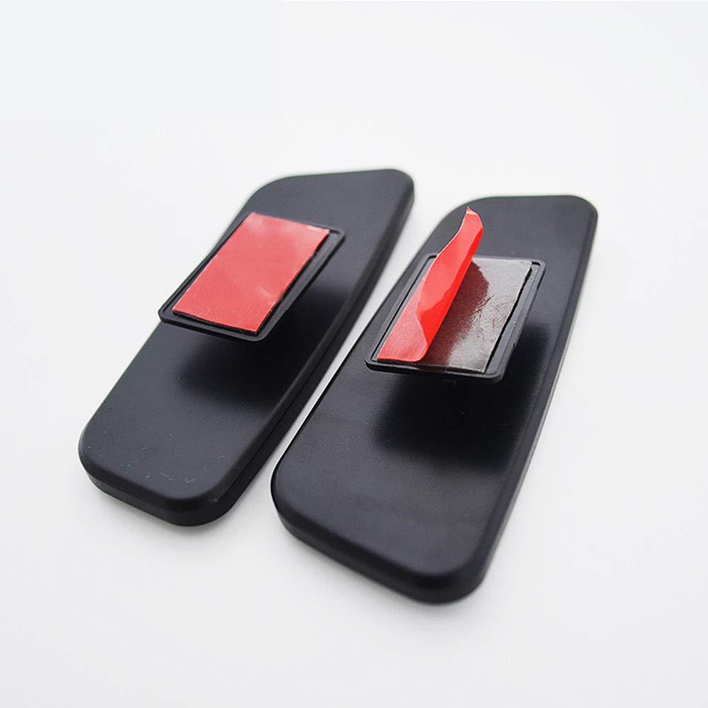 CAheadY 1 par 360 Grados giran el Espejo Auxiliar granangular del Punto Ciego del Coche Ajustable Black