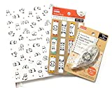 Animal Party Panda Collection Office School Supplies 3 PCS(Notebook Soft Cover, bookmark, Decorative Tape)