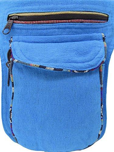 Hüfttasche blau - Baumwolle - mit Magnetverschluss