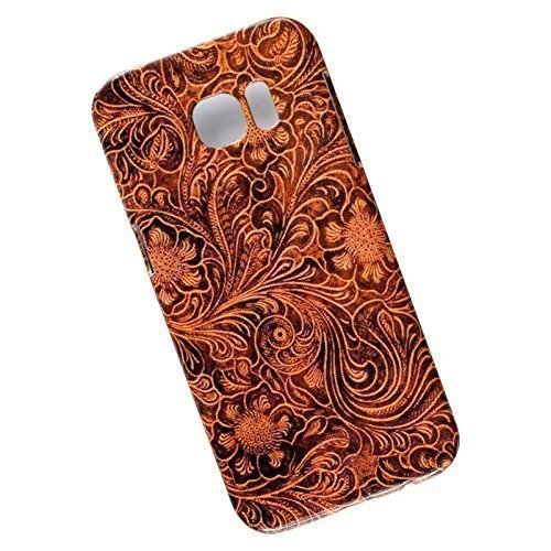 Slim Case for Samsung Galaxy S7 Edge. Tooled Leather Look.