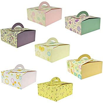 Amazon chilly gift boxes set of 12 decorative treats boxes rantanto gift boxes with easy take handle set of 14 cookies goodies candy negle Image collections