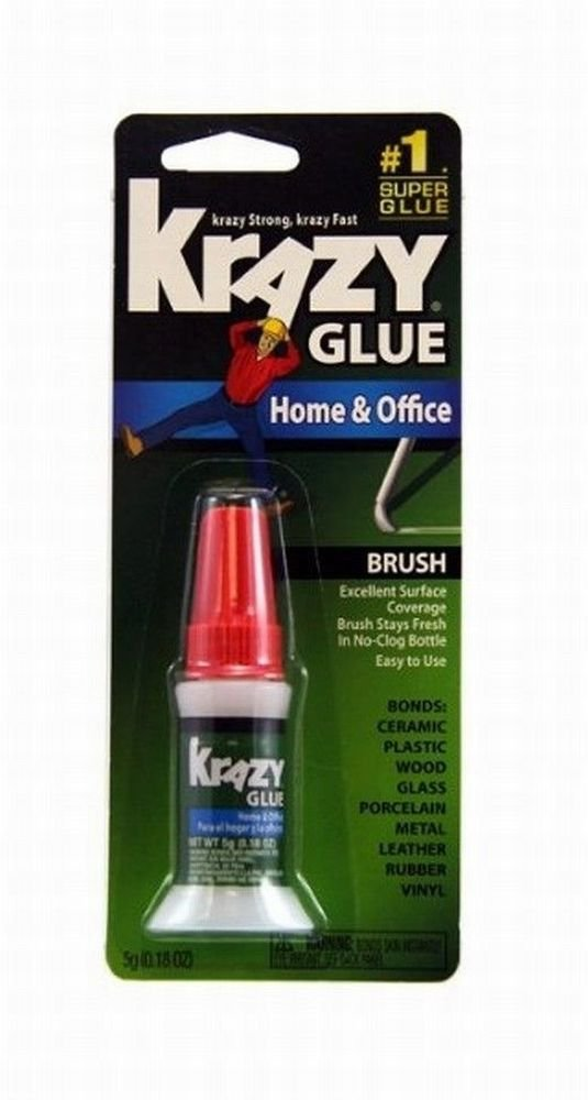Krazy Glue KG94548R 5G Home and Office Brush-On 6 Pack