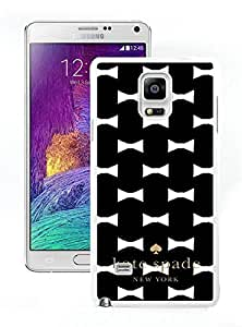 High Quality Note 4 Case,Kate Spade 22 White Samsung Galaxy Note 4 Screen Phone Case Unique and Fashion Design