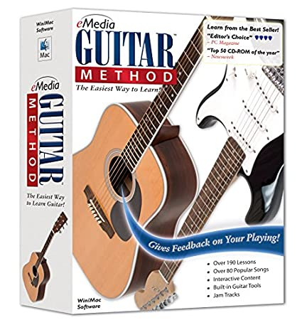 eMedia Guitar Method v6.0 - with Bonus Pitchboy Mini Keyring Tuner