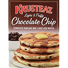Krusteaz Chocolate Chip Pancake Mix, 24-Ounce Boxes (Pack of 2) by Krusteaz