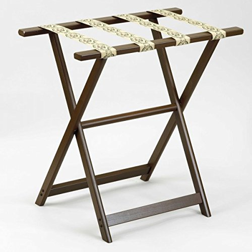 1250 Series Tall Straght Leg Luggage Rack Finish: Dark Walnut by Gate House Furniture