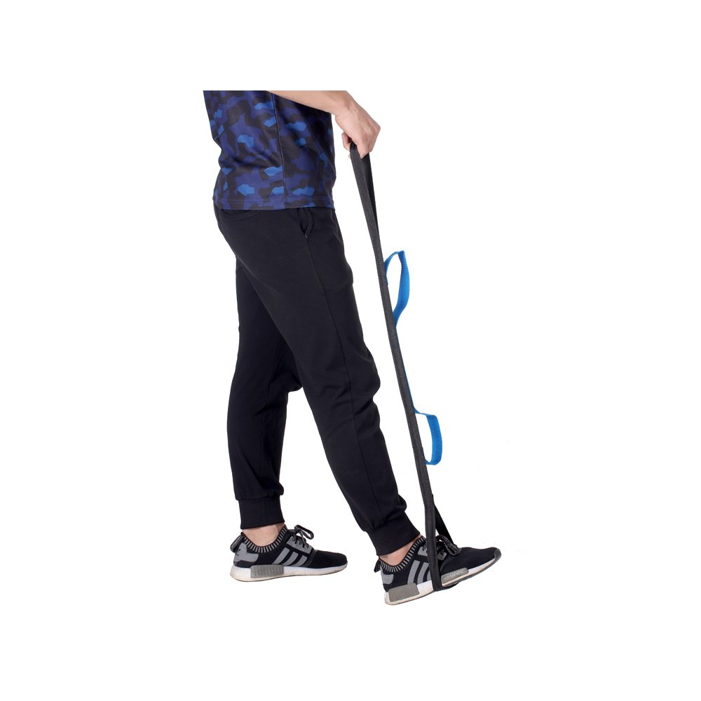 "Leg Lifter Strap, 35""Rigid Foot Loop Lift & Hand Grip - Adult, Senior, Elderly, Handicap, Disability & Pediatrics Mobility Aid Lifting Tool for Wheelchair, Hip & Knee Replacement, Bed or Car"