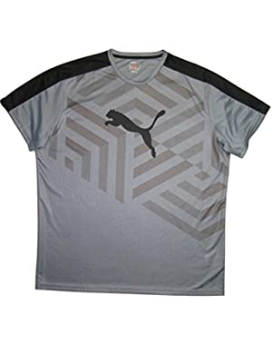 Mens Dry Fabric Cell Evo Tee, Grey Black, XXL