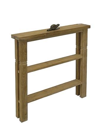 Schmaler Wandtisch aus Teakholz massiv: Amazon.de: Küche & Haushalt