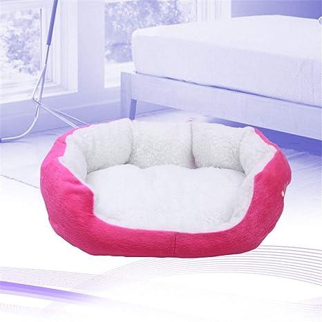 M19XPet Products, corderos, Dog Kennels, Pet bomei Desmontable Lavable Alfombra Mascotas,Rosa