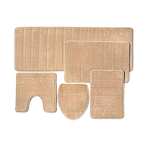 Bathroom Rug Mat Piece Set Memory Foam Extra Soft Non