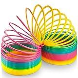 Kidsco JUMBO Rainbow Coil Spring Slinky - For Boys, Girls, Parties, Gifts, & Birthdays - By