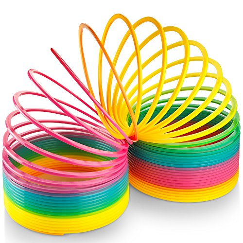 Kicko Jumbo Rainbow Coil Spring - for Boys, Girls, Parties, Gifts, & Birthdays