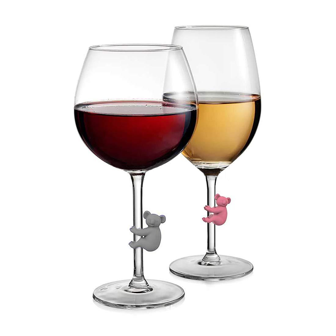 Kelis Marcadores para copas de vino 6 unidades, silicona