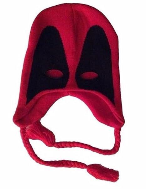 6b50d80733c Amazon.com  Marvel Comics DEADPOOL Mask Laplander Hat  Clothing