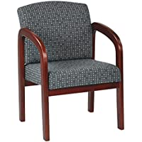 Work Smart Cherry Finish Wood Visitor Chair, Ash