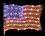 American Usa Flag Silhouette Light July Window Decor