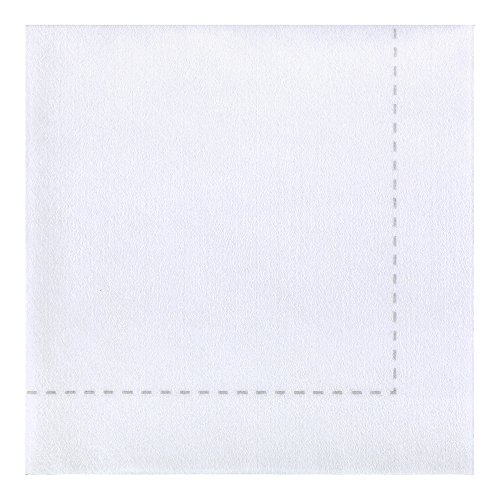 Hoffmaster 257006 Bello Lino Stitch Printed Disposable Dinner Napkin, 15.5″ x 15.5″, White with Stitch Print (Pack of 600)