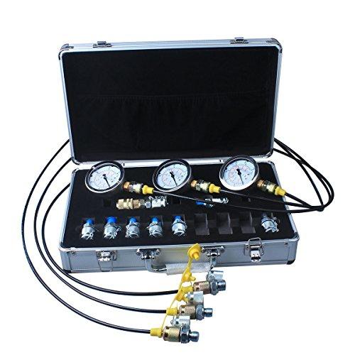 DUSICHIN DUS-900 Excavator Hydraulic Pressure Test Kit, Hydraulic Tester, Pressure Test Guage Coupling 9000 PSI by DUSICHIN