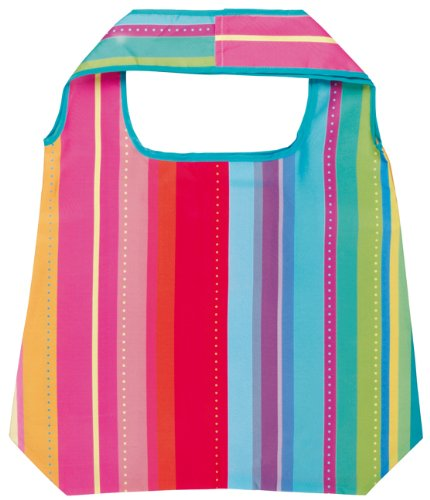 Moses 81824 - Borsa shopper con disegno a righe, multicolore (fondo colorato)