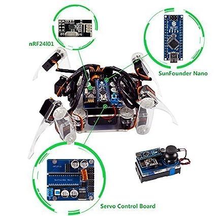 Amazon Com Sunfounder Remote Control Crawling Robotics Model Diy
