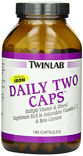 Twinlab Daily Two Caps, without Iron, 180 Capsules