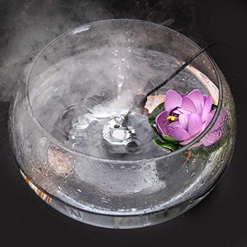 AGPTEK 400mL/H Aluminum Mini Mist Maker Fogger Water Fountain Pond Fog Machine Atomizer Air - Maker Lamp Mist