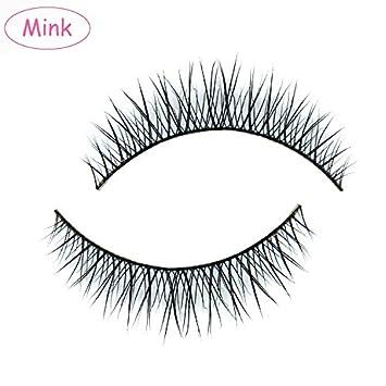21b58a915eb Amazon.com : MY-023 luxurious 100% Mink Hair Natural Short Cross False  eyelashes fake eye lashes : Beauty