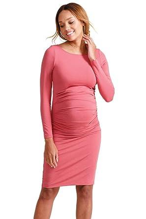 4ec91f6d501 Ingrid   Isabel Long Sleeve Pleated Maternity Dress at Amazon Women s  Clothing store