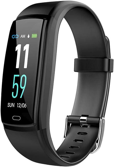 wo nice Fitness-Armband mit Pulsmesser, Smart Fitness Tracker mit Pulsmesser, Schrittzähler, Schlaf-Monitor, Activity Tracker, Remote-Aufnahme, Anruf, SMS, Telefon für Android iOS Smartphone Finden: Amazon.es: Deportes y aire libre