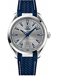 Omega Seamaster Aqua Terra 41mm Mens Watch on Blue Rubber Strap 220.12.41.21.06.001