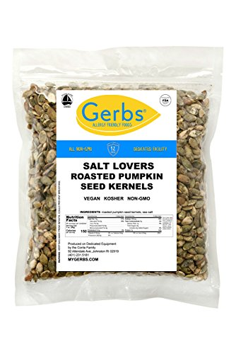 (Salt Lovers Pumpkin Seed Kernels, 4 LBS by Gerbs – Top 12 Food Allergy Free & NON GMO - Vegan & Kosher - Dry Roasted Premium Quality Seeds Grown in Mexico)