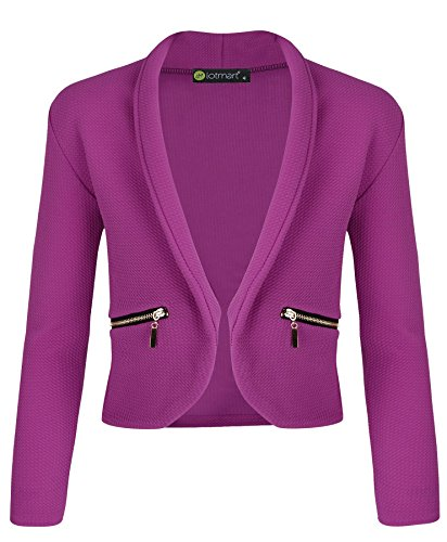 Girls Jacket With Zip Pockets in Violet 9-10 Years (Zip Pocket Blazer)