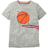Clearance Toddler Kids Baby Boys Girls Clothes Cotton Short Sleeve Cartoon Basketball Tops T-Shirt Blouse 2-8 Years
