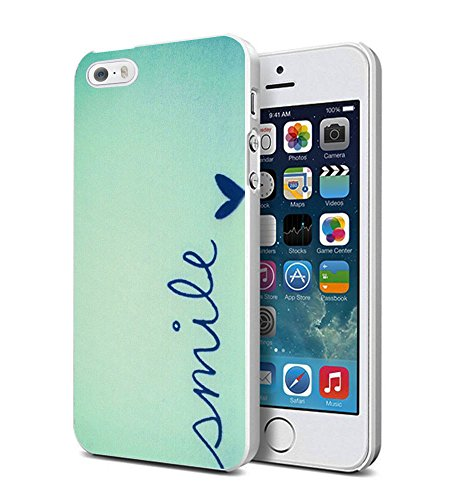 iPhone 5s Case 3D Textured New Unique Design Personalized Mint Small Smile Pattern