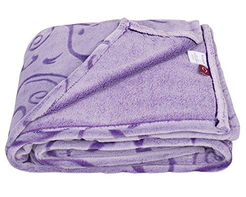 SOCHOW Uragiri Flannel Fleece Throw Blanket, Warm Lightweight Super Soft Blanket 60 × 80 Inches, Purple (Blanket Purple Soft)