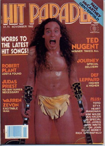 Hit Parader Magazine TED NUGENT Warren Zevon PAUL McCARTNEY CENTERFOLD Journey JUDAS PRIEST Robert Plant DEF LEPPARD November 1982 C (Hit Parader Magazine)