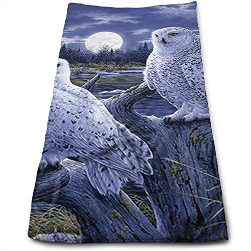 JTRVW Luxury Hand Towels, Two Owls Microfiber Beach Towel La